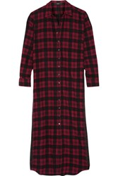 Etro Embroidered Checked Wool And Cotton Blend Flannel Shirt