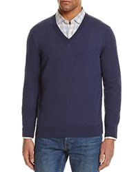 Bloomingdale's The Men's Store At Cotton V Neck Sweater 100 Exclusive Heather Navy