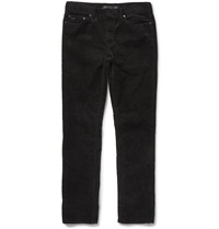 Michael Kors Slim Fit Stretch Cotton Corduroy Trousers Black