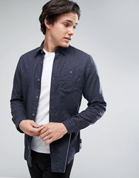 Jack And Jones Originals Denim Shirt With Pocket In Regular Fit Navy Blazer Black
