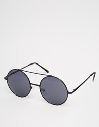 New Look Round Sunglasses In Black Black