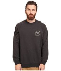 Brixton Wheeler Crew Fleece Washed Black Men's Sweatshirt