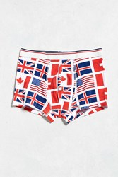 Urban Outfitters Flags Trunk Red Multi