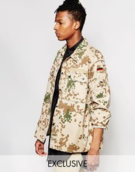 Reclaimed Vintage Military Field Jacket Beige