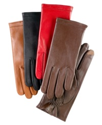 Charter Club Fleece Lined Tech Touch Leather Gloves Black