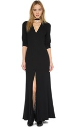 Lanston Long Sleeve Maxi Dress Black