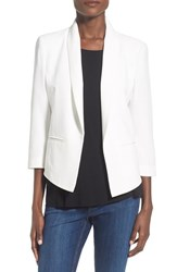 Women's Mural 'Curve' Shawl Collar Blazer White
