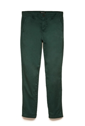 Forever 21 Classic Cotton Chinos Emerald