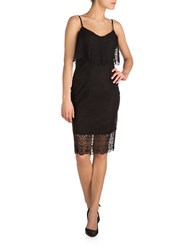 Guess Embroidered Lace Dress Black