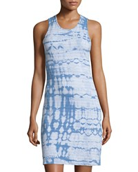 Current Elliott Tie Dye Scoop Neck Tank Dress Blue Shell