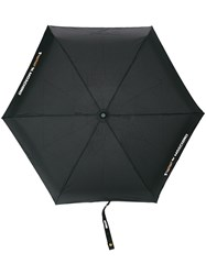 Moschino Logo Print Umbrella Black