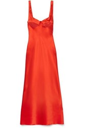 Dion Lee Silk Satin Midi Dress Red