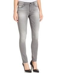 Dkny Jeans Skinny Mid Rise Jeans Grey Wash