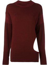 Dkny Cut Out Jumper Red
