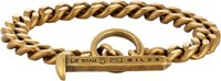 Giles And Brother Men's Spike Toggle Chain Bracelet Gold