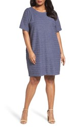 Caslonr Plus Size Women's Caslon Textured Terry Shift Dress