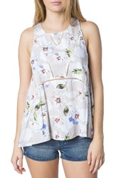 O'neill Women's Ona Floral Print Woven Tank Naked