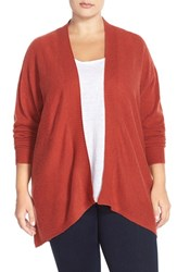 Plus Size Women's Sejour Dolman Sleeve Wool And Cashmere Cardigan
