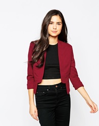 Lipsy Cropped Jacket 051Red