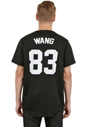 Les Art Ists Printed Cotton Blend Baseball Jersey Wang