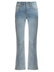 Helmut Lang High Rise Straight Leg Jeans Light Denim