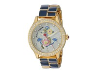Betsey Johnson Bj00198 07 Enamel Anchor Blue Gold Watches