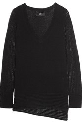 Line Dori Asymmetric Cashmere Sweater Black