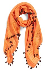 Women's La Fiorentina Tassel Scarf Orange