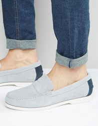 Lacoste Navire Suede Penny Loafers Grey
