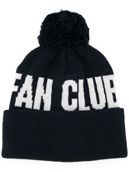 Wood Wood Fan Club Pom Pom Beanie Blue