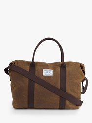 Barbour Waxed Cotton Holdall Khaki Yellow