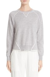 Adam By Adam Lippes Women's Contrast Detail Merino Wool Sweatshirt