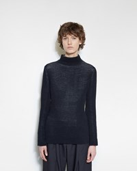 Issey Miyake Circle Knit Pullover Black And White