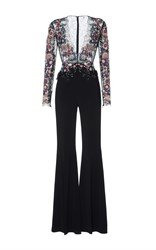 Zuhair Murad Sequin Embroidered Jumpsuit Black