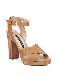 French Connection Gilda Leather Sandals Safari Sand