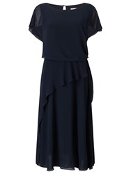 Jacques Vert Soft Tie Detail Dress Navy