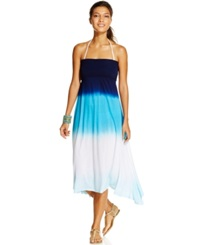 Raviya Convertible Dip Dye Dress Cover Up Women's Swimsuit Navy