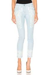 Etro Embroidered Jeans In Blue