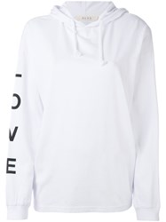 Alyx Love Hoodie Women Cotton Xs White