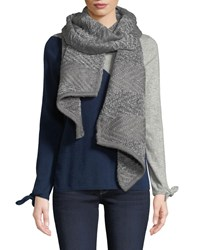 Rebecca Minkoff Blocked Yarn Muffler Light Gray