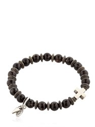 Bootleggers Black Imperial Beads And Cross Bracelet