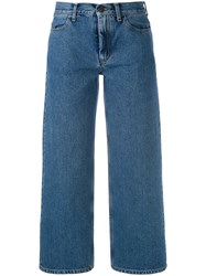 Ports 1961 Cropped Wide Leg Jeans Women Cotton 27 Blue
