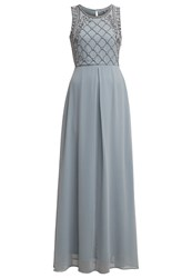 Anna Field Maxi Dress Silver Blue Blue Grey