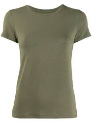 Majestic Filatures Flared Jersey T Shirt Green