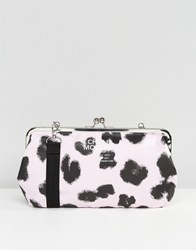 Cheap Monday Wallet Clutch Bag Smudgy Leopard Black