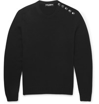 Dolce And Gabbana Slim Fit Cashmere Sweater Black