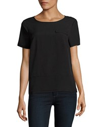 French Connection Patch Pocket Short Sleeved Top Black