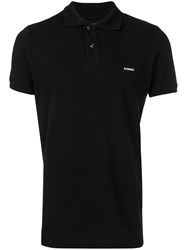 Iceberg Embroidered Charlie Brown Polo Shirt Black
