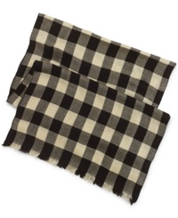 Denim And Supply Ralph Lauren Polo Ralph Lauren Chunky Twill Wool Check Scarf Blue Plaid