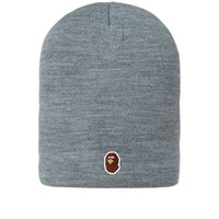 A Bathing Ape One Point Head Beanie Grey